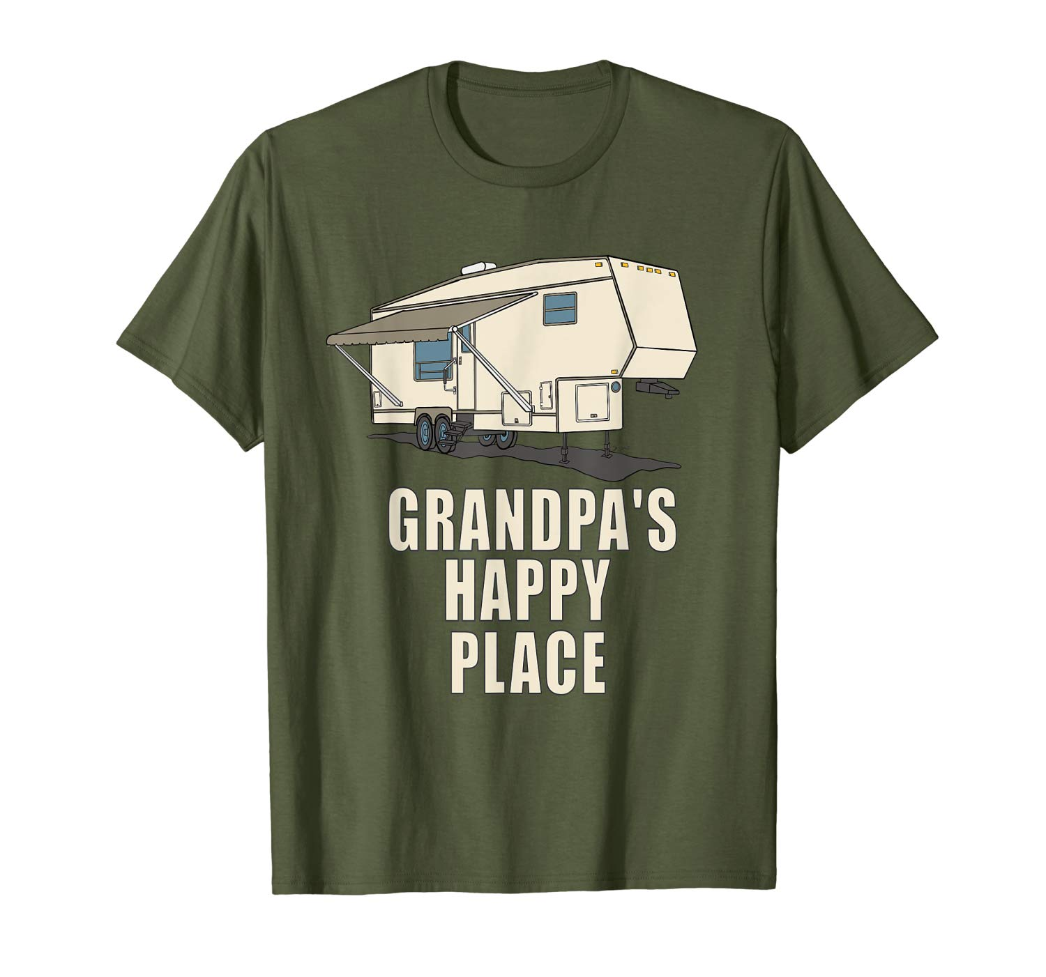 5th wheel shirt GRANDPAS HAPPY PLACE Fifth Wheel Camper