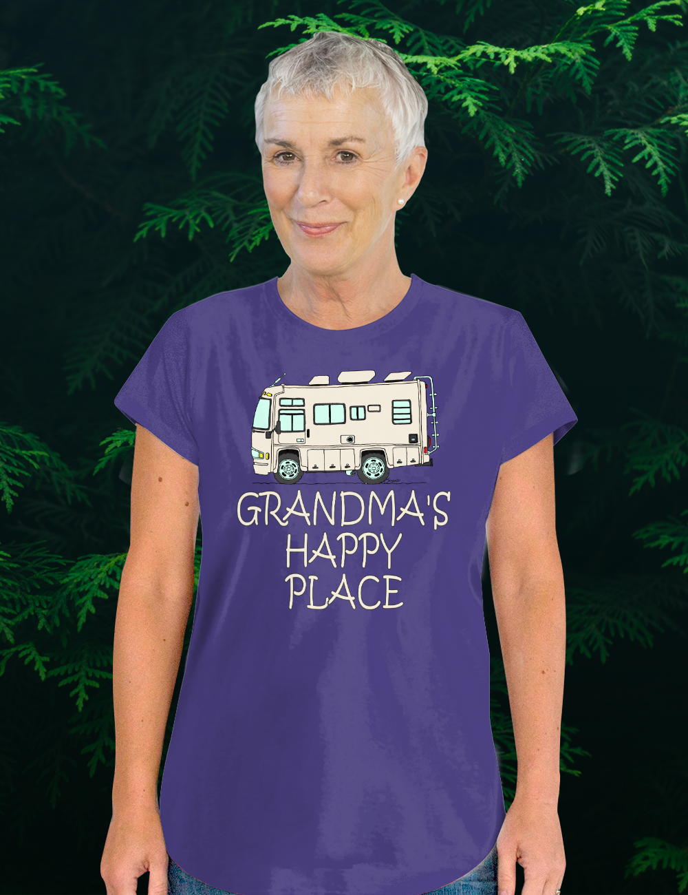 RV T Shirts for Women GRANDMA'S HAPPY PLACE T-Shirt