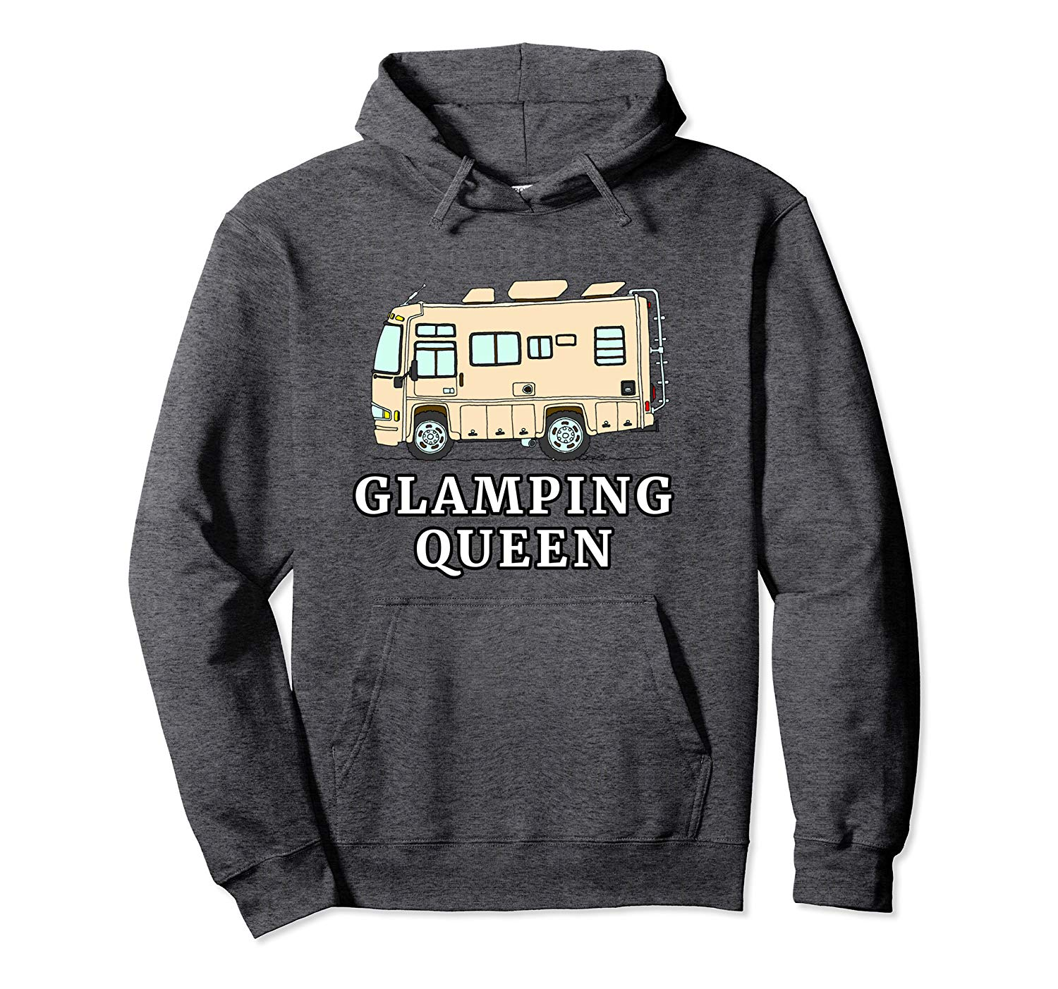 RV Motorhome GLAMPING QUEEN Pullover Hoodie