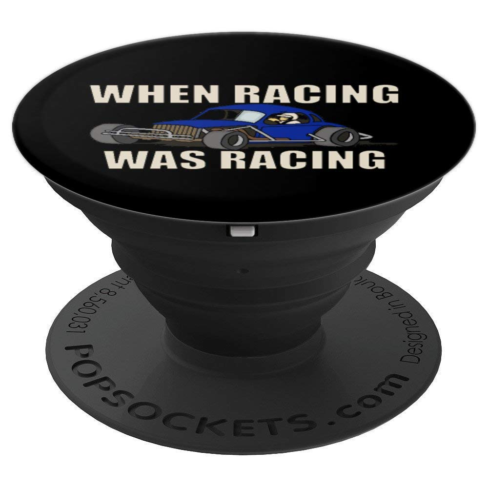 Stock Car Shirt RACING WAS RACING Blue Coupe racing gift popsocket