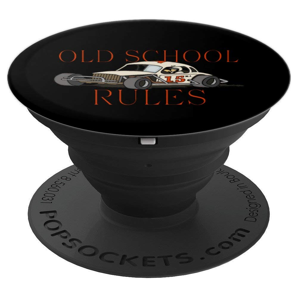 Stock Car Shirt OLD SCHOOL RULES White coupe racing gift popsocket