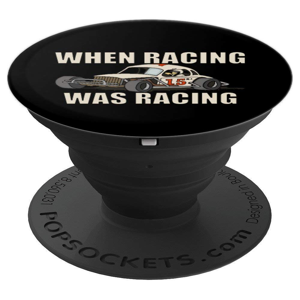 Stock Car Shirt RACING WAS RACING White Coupe racing gift popsocket