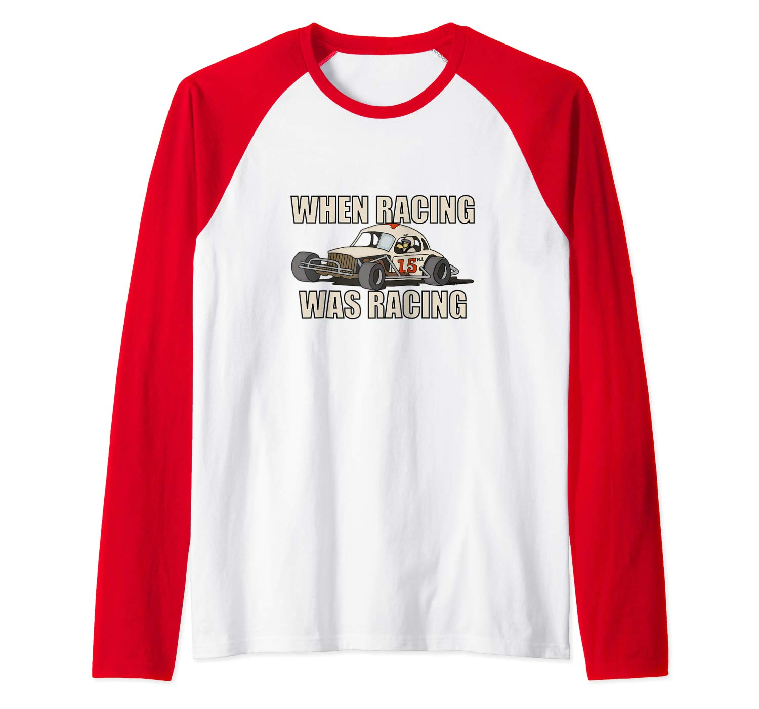 Stock Car Shirt RACING WAS RACING White Coupe racing gift basebal tshirt