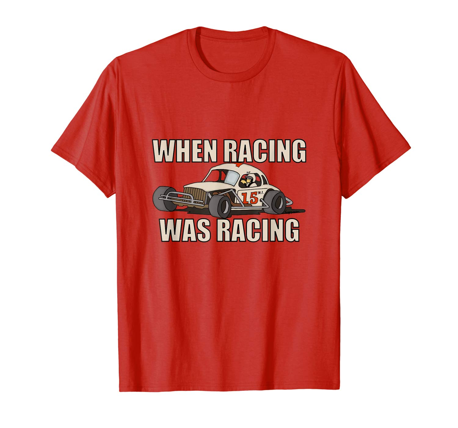 Stock Car Shirt RACING WAS RACING White Coupe racing gift tshirt
