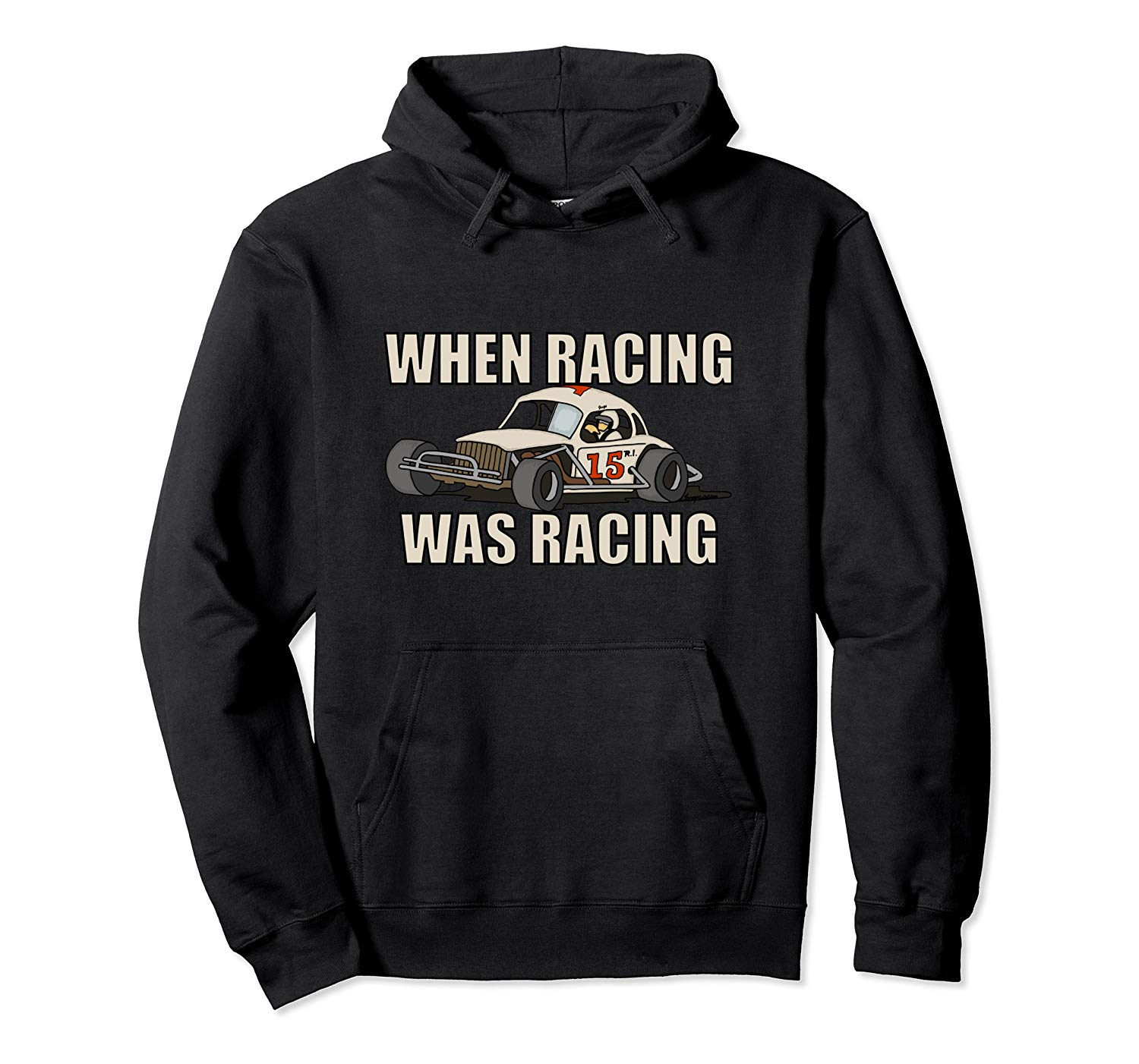 Stock Car Shirt RACING WAS RACING White Coupe racing gift hoodie