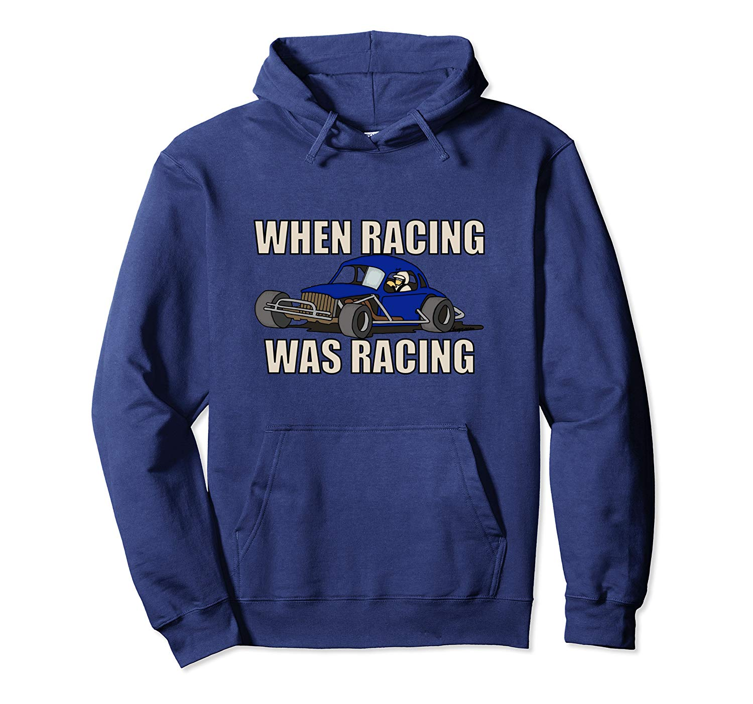 Stock Car Shirt RACING WAS RACING Blue Coupe racing gift hoodie