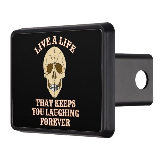 ScottyGaaDo LIVE A LIFE Laughing Skull Hitch Cover