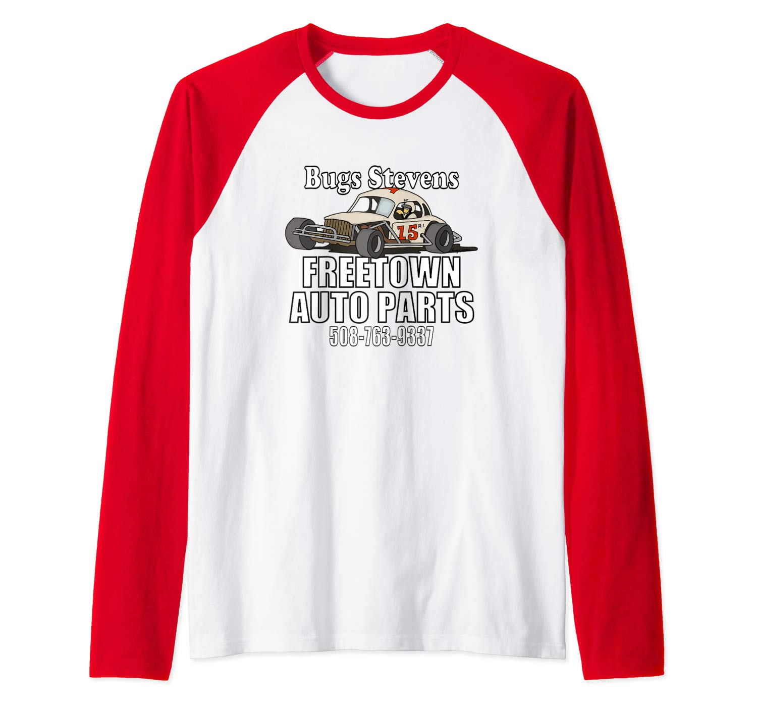 BUGS STEVENS FREETOWN AUTO PARTS  Baseball T