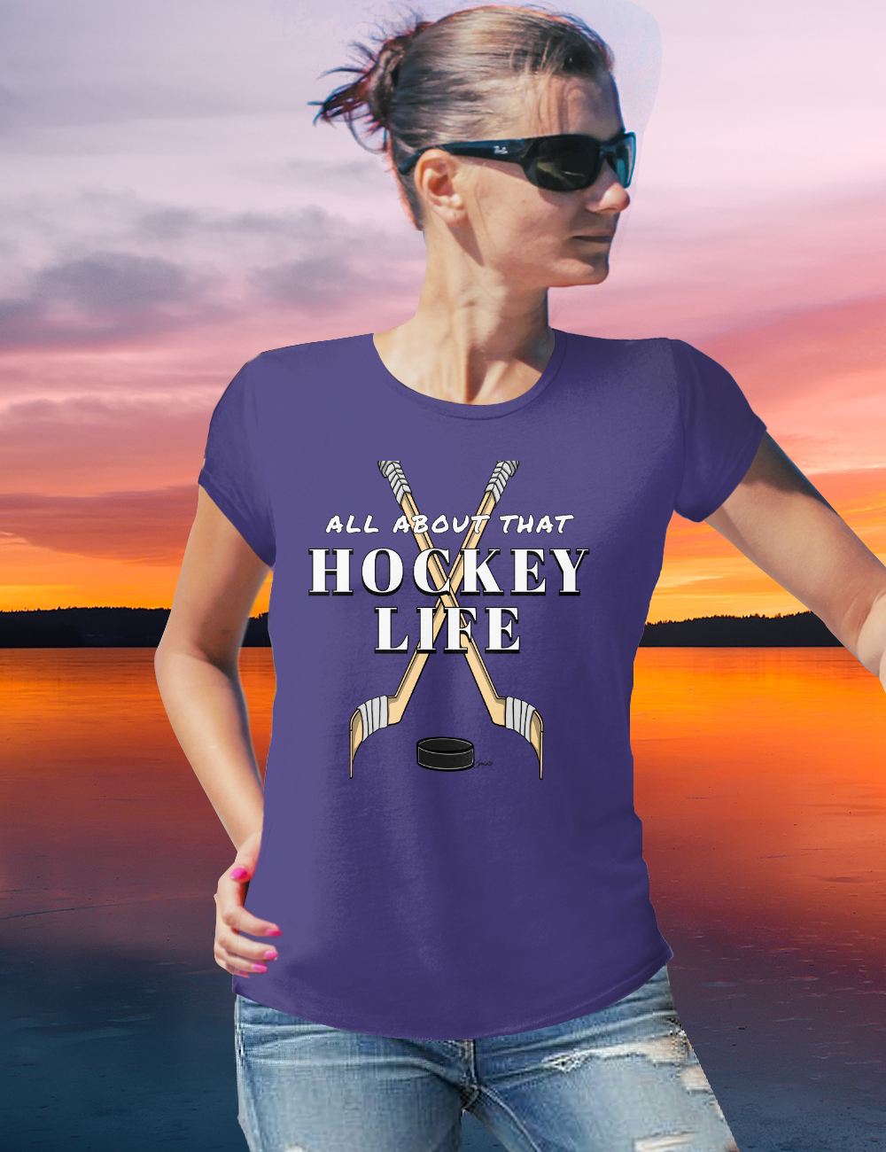 Ice Hockey Players ALL ABOUT THAT HOCKEY LIFE Tshirt
