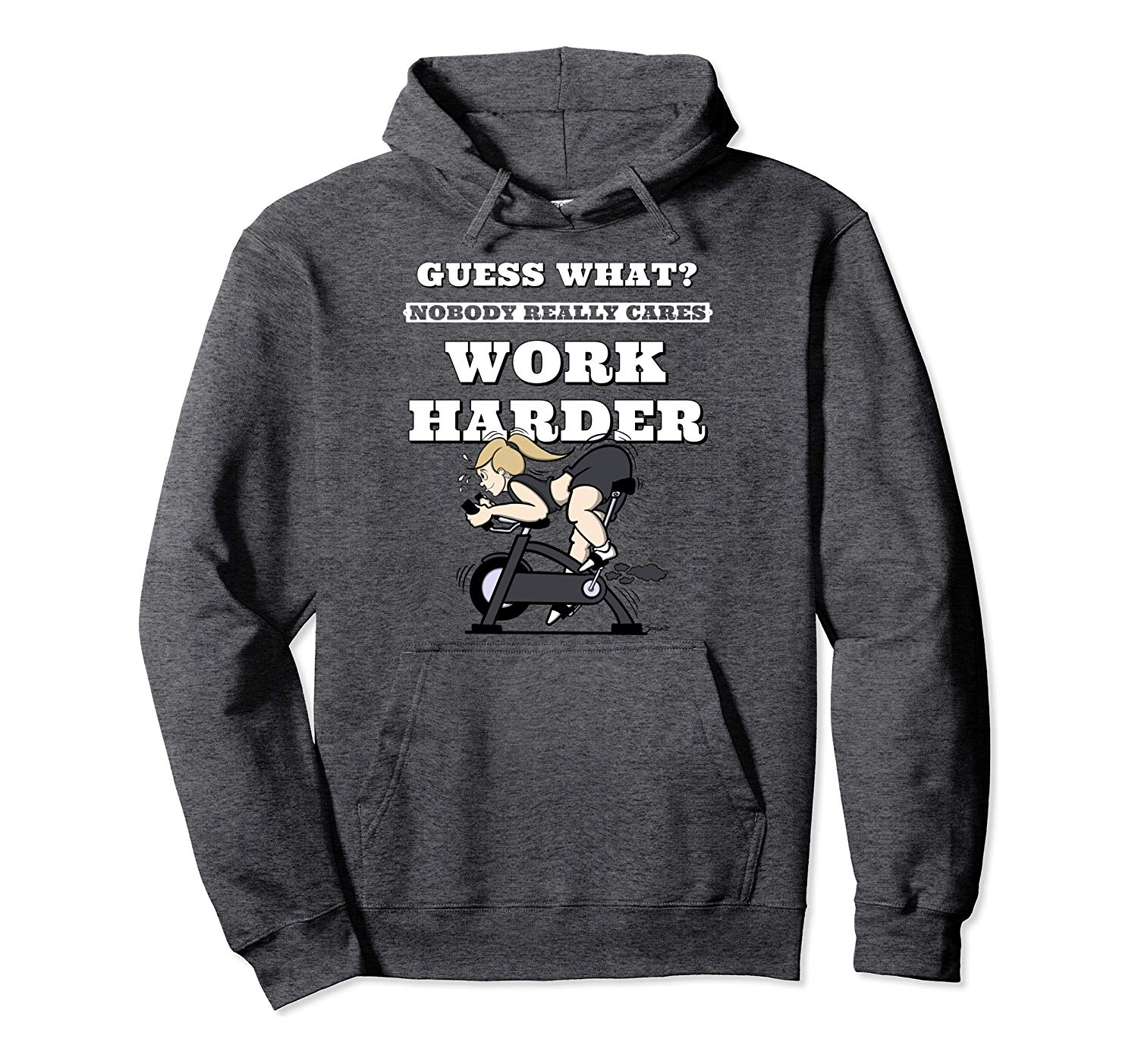 Spin Shirts Women NOBODY REALLY CARES WORK HARDER Hoodie