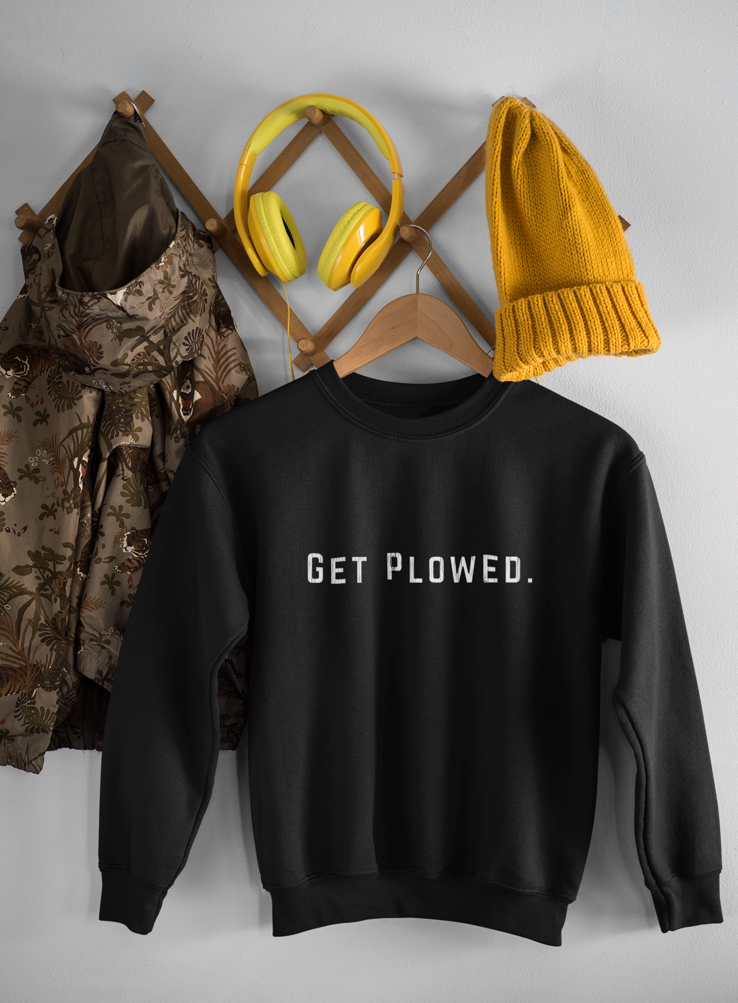 NHPIAT GET PLOWED 2-side SweatShirt