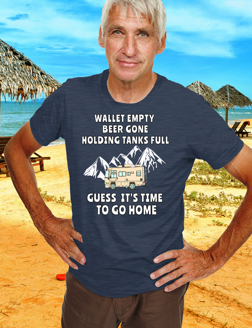 RV Motorhome Beer Lover TIME TO GO HOME camping T-Shirt
