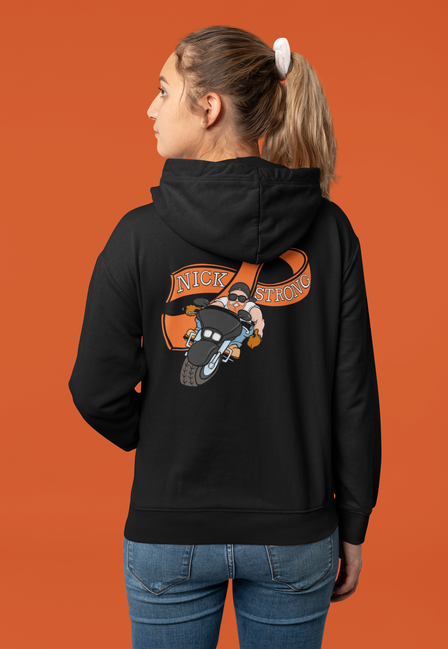 NICK STRONG Requested BACK-PRINT Zip-up Hoodie